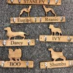 Wooden Double Personalised Lead Hook